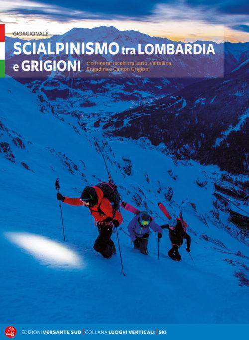 """copertina di """"scialpinismo tra lombrdia e grigioni"""""""